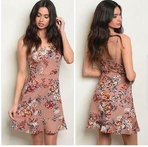 Nwt Floral Print Dress